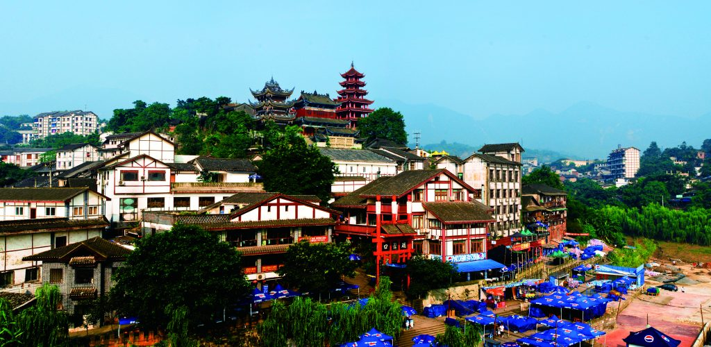 A whole look of Ciqikou Ancient Town
