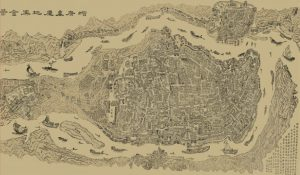 Outline of Chongqing-map Chongqing